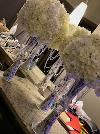 Ten White Rose Wedding Centerpieces Rockville, 20850