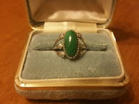 Vintage Silver & Malachite Ring