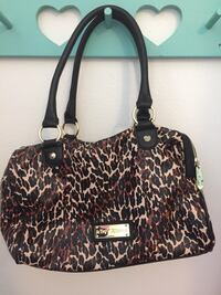Brown,white, and black leopard skin tote bag Olympia, 98501