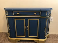 Blue and Gold Regal Buffet Table