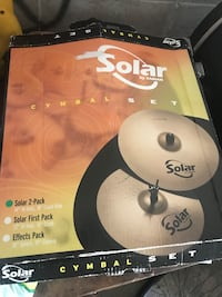 """NEW""Solar drum symbols Solar 2-pack 14"" Hi Hats, New in the box Laval, H7W 1P2"