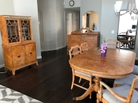Antique dining set -buffet, credenza, chairs and expandable oval table Aliso Viejo, 92656