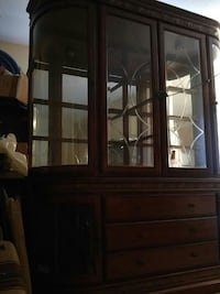 brown wooden display cabinet Coquitlam, V3J 2R9