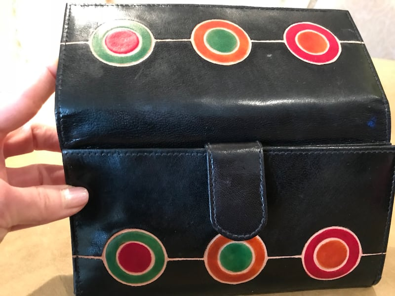 Black leather african long-wallet with pockets 1c427ba4-fad1-442d-b929-a00e7d684b61