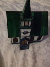 AUTHENTIC STAINED GLASS CHURCH ELECTRIC LAMP  Las Vegas, 89130