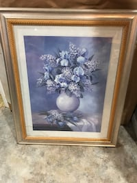Painting of white petal flowers
