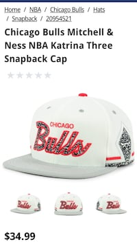 white and red Chicago Bulls fitted cap Redlands, 92373