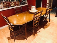 brown wooden dining table and chairs Lucan Biddulph, N0M 2J0