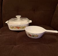 2 CorningWare Dishes w/ Pyrex Lid—Spice of Life—Listing 1 of 2 Vienna, 22180