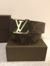 Brown Monogram LV Belt Mississauga, L5B
