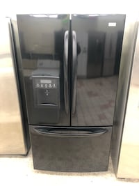36x70 Gloss Black kenmore elite French doors refrigerator it works great 100 days warranty  Baltimore, 21222