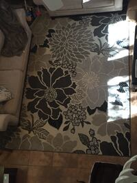 Large area rug- greys and ivory
