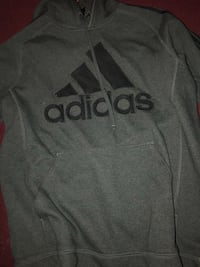 gray Adidas pullover hoodie