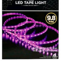 Purple LED tape light 9 feet indoor/outdoor no box 29 km