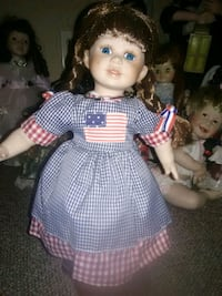 girl doll in white and purple dress West Warwick, 02893