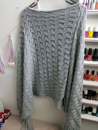 Gray poncho with sequins new Montreal