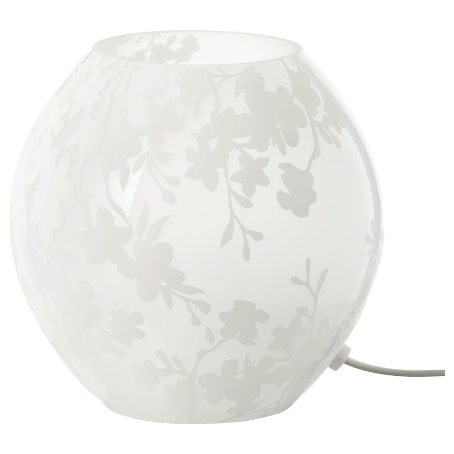 IKEA Table Lamp, White Cherry Blossom Design