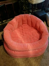 Pink blowup chair Lewisville