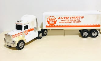 Rare! McKerlie Millen Auto Parts/Paint Shop Die Cast Truck Trailer