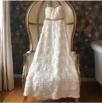 White Floral Evening/wedding dress Laurel, 20723