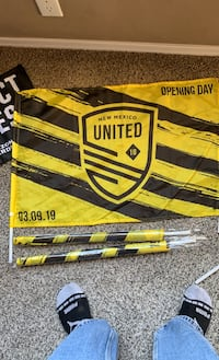 NM United Car/Fan Opening Day flag