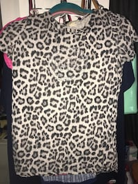 white and black leopard print shirt Fort Washington, 20744