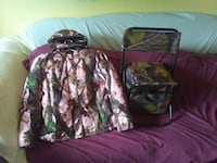 two green and brown camouflage jackets 299 mi