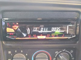 black and red car stereo
