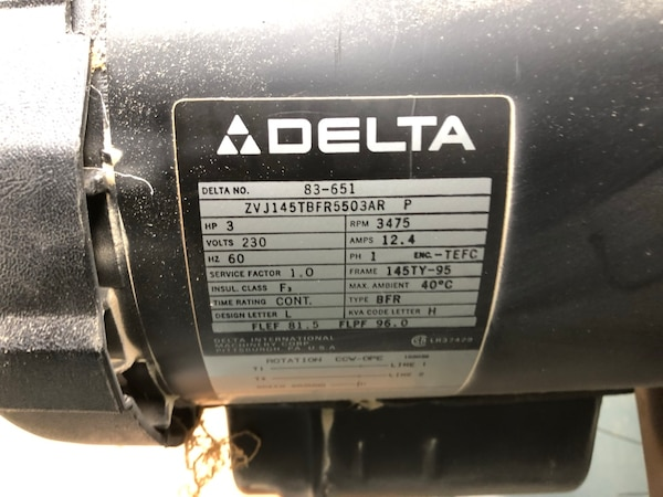 Delta commercial belt drive table saw