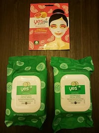 Face wipes and face mask