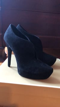 pair of black suede platform stilettos Laval, H7E 5K3