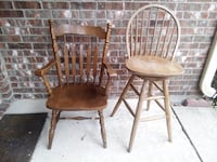 1 chair and 1 swivel bar stool. Solid, super sturdy pieces. Allen