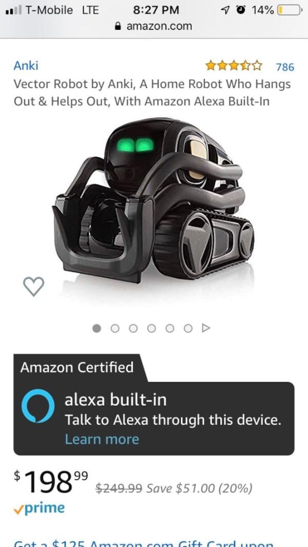 Vector Robot by Anki, A home robot who hangs out and helps out, with Alexa  Built in