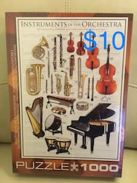 New Jigsaw Puzzle INSTRUMENTS of the ORCHESTRA. 1000 pieces