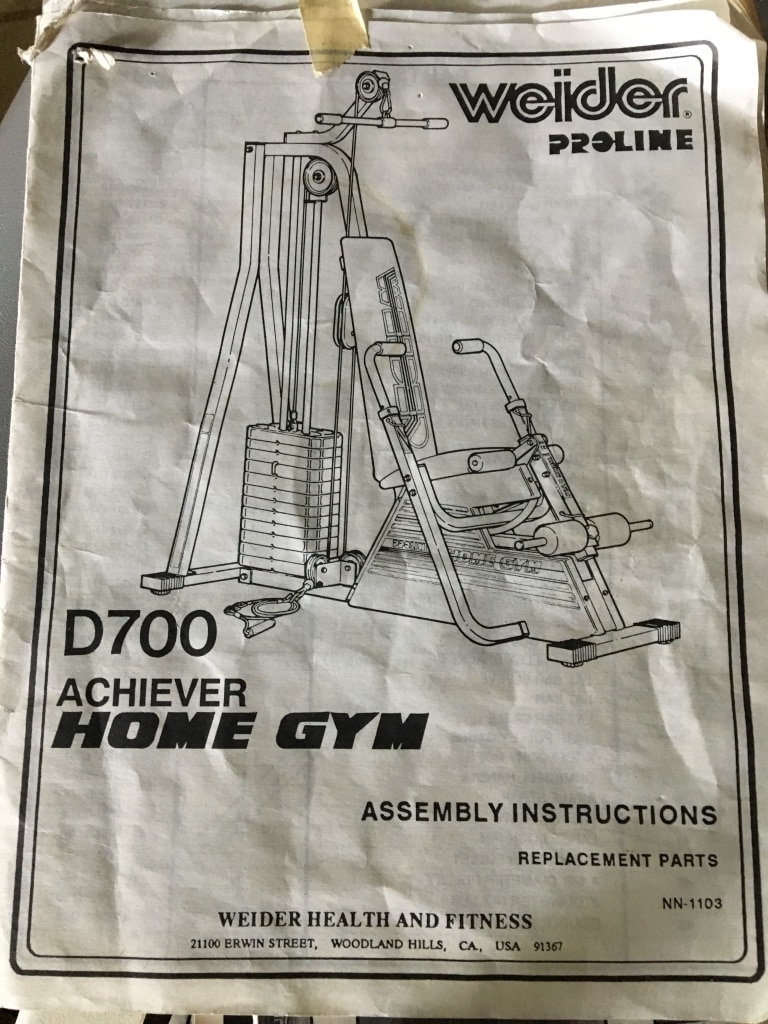 Used weider home gym w manual for sale in sioux falls letgo
