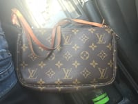 black monogrammed Louis Vuitton leather crossbody bag Killeen, 76549