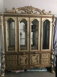 brown wooden china cabinet with cabinet West Fargo, 58078