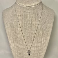 Tiffany & Co Elsa Peretti Sterling Silver Diamond Cross Pendant Necklace Ashburn