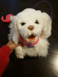 Fur Real large white puppy