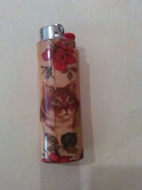 pink floral and cat print BIC disposable lighter Willard, 65781