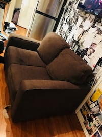 brown fabric 2-seat sofa New York, 10019