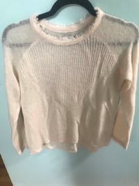 Lucky Brand Cream Sheer Sweater XS Annandale, 22003