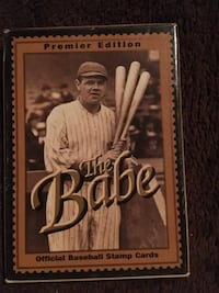 Babe Ruth Official Baseball Stamp Cards