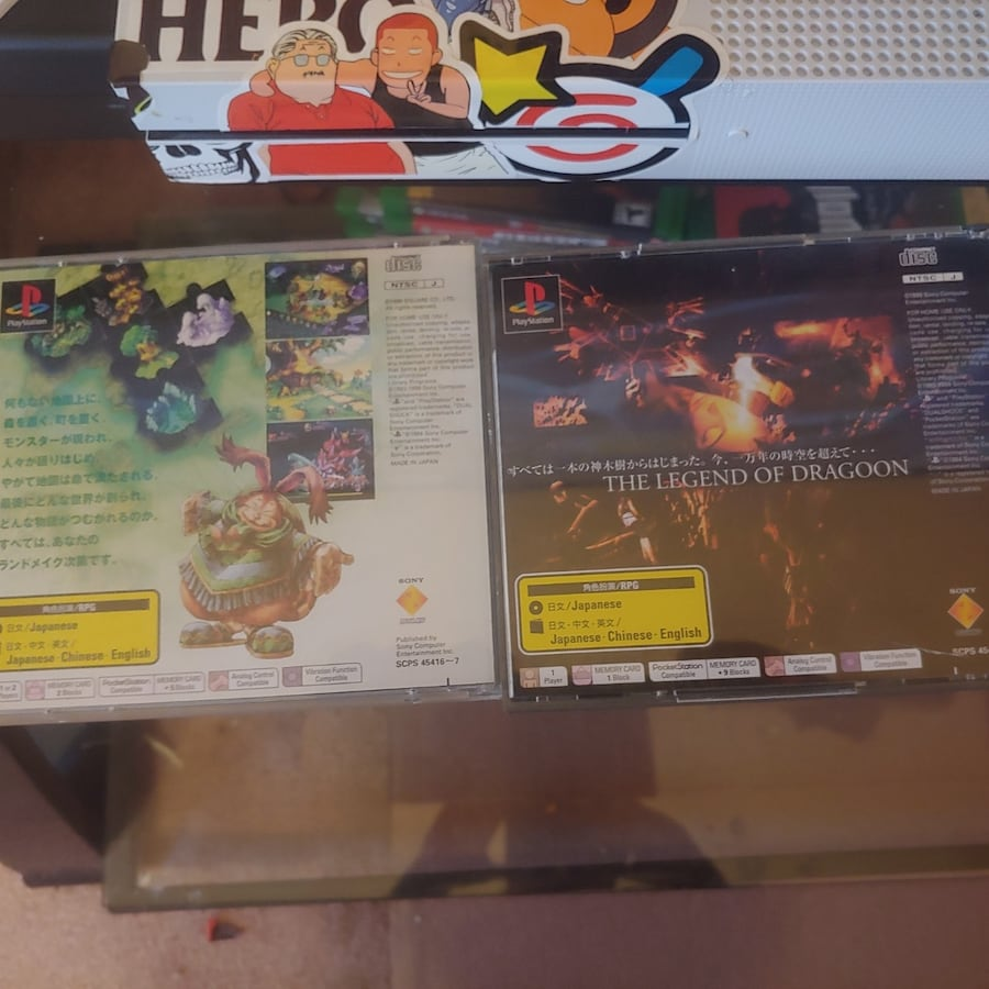 Japanese region video games. 0