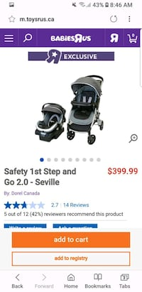 black and gray Graco travel system step n go  Burlington, L7P 3Y3