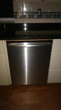 gray stainless steel dishwasher
