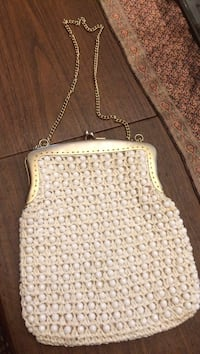 White pearled clutch shoulder abg Rosedale, 21237