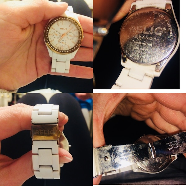 White RELIC and GOLD women's watch