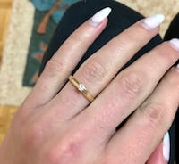 14k solitaire gold ring
