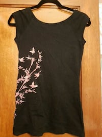 Women's Black sleeveless top